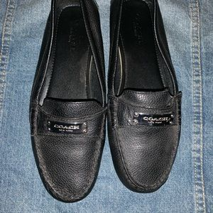 Frederica Black Coach Loafers